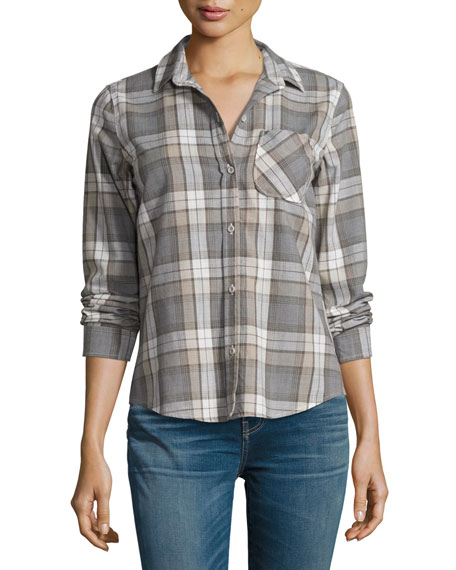The Slim Boy Shirt, Gray Oak Plaid