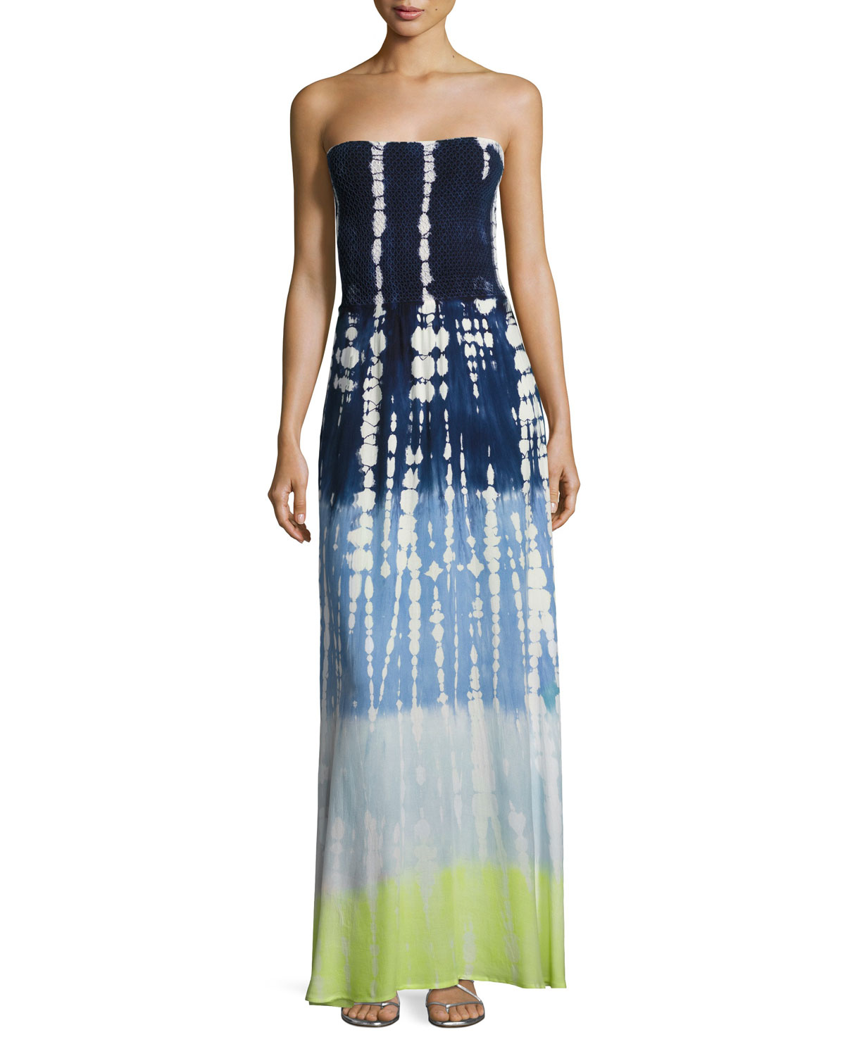 Young Fabulous and Broke Lively Smocked Strapless Maxi ...