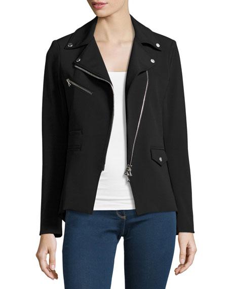 Hadley Zip-Front Scuba Jacket, Black