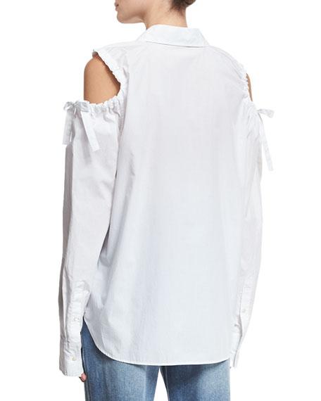Cold-Shoulder Tie-Sleeve Shirt