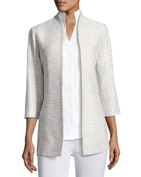 Misook Spring Silver Linings Jacket, Plus Size and