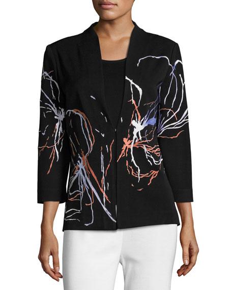 Fireworks Embroidered Jacket, Petite