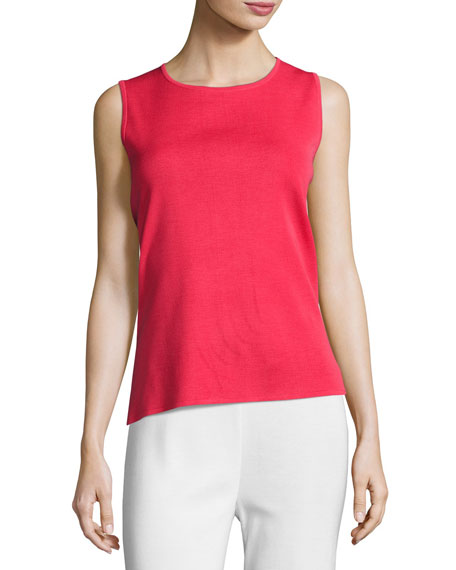 Crewneck Tank, Sorbet Red, Plus Size