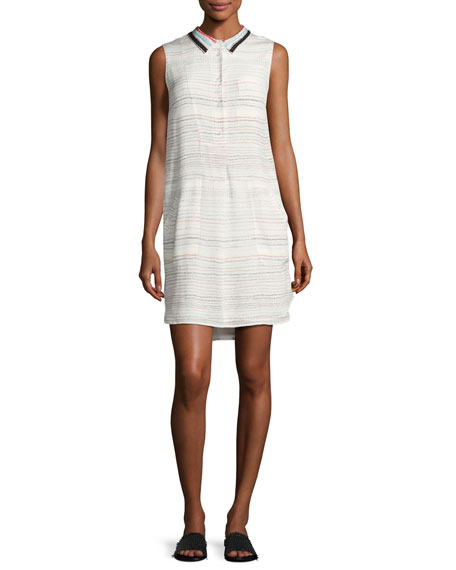 GREY Jason Wu Pascal Sleeveless Scribble-Print Silk Dress,