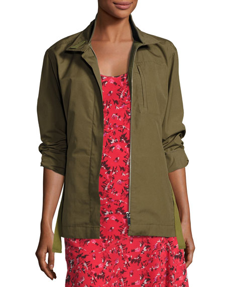 GREY by Jason Wu Zip-Front Military Jacket, Green