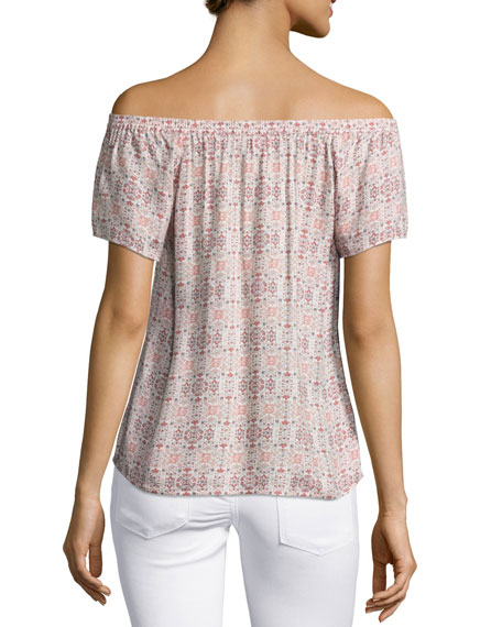 Morallis Off-the-Shoulder Top, Pink