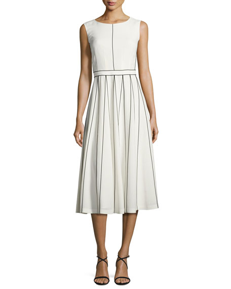 Lafayette 148 New York Maripose Finesse Crepe A-Line