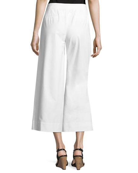 Kenmare Cropped Wide-Leg Pants, White
