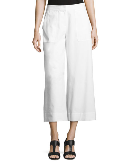Lafayette 148 New York Kenmare Cropped Wide-Leg Pants,