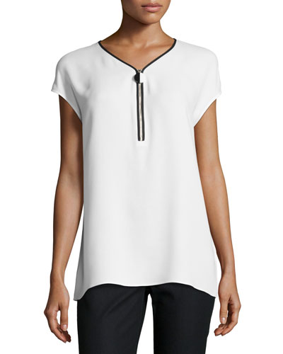 Designer Blouses in Modern Mix at Neiman Marcus