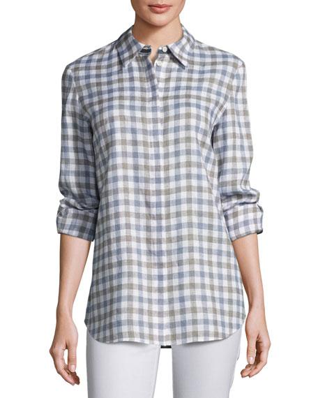 Lafayette 148 New York Knit Vest & Check