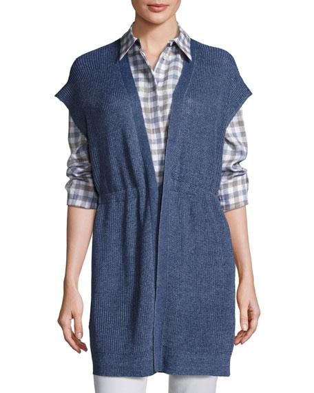 Long Mid-Weight Délavé Knit Vest