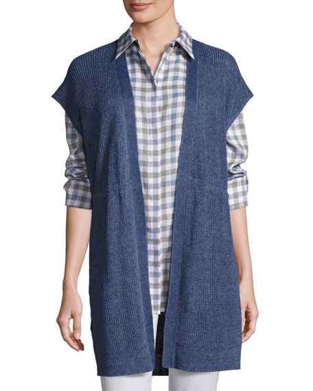 Lafayette 148 New York Long Mid-Weight Délavé Knit