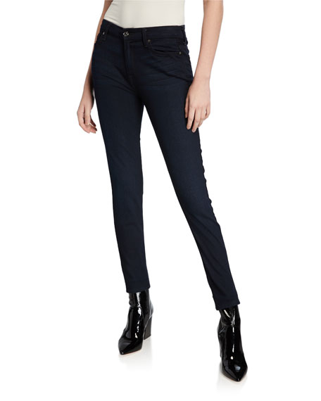 B(Air) Denim High-Waist Skinny Jeans, River Thames