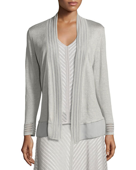 NIC+ZOE Sheer Striped Cardigan, Petite and Matching Items