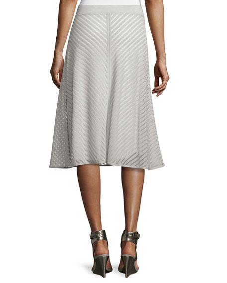 Sheer Striped A-line Skirt, Petite