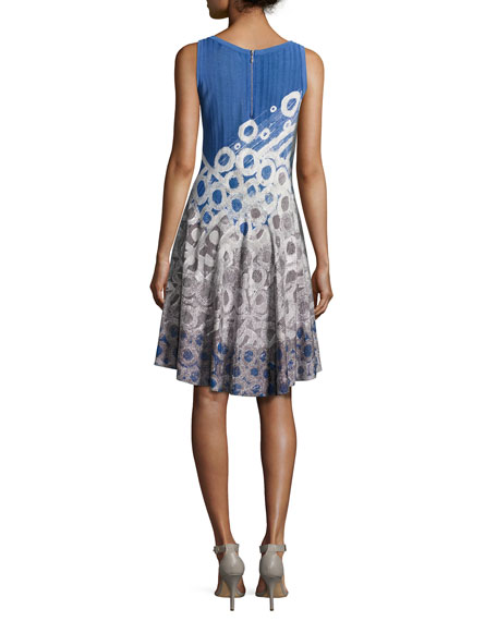 Rain Drops Twirl Dress, Petite