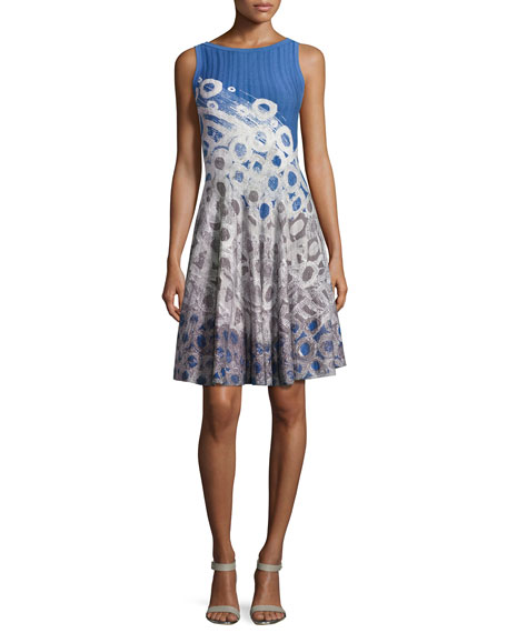 NIC+ZOE Rain Drops Twirl Dress, Petite