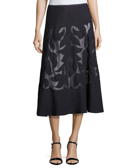 NIC+ZOE Secret Garden Skirt, Midnight
