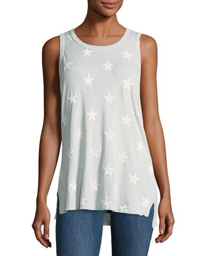 The Muscle Star-Printed Sleeveless Tee