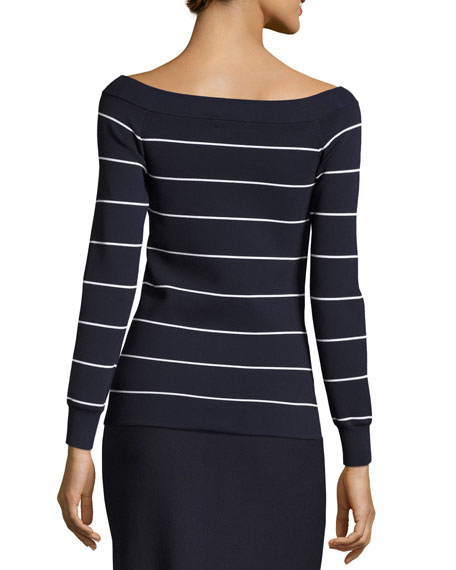 Striped Off-the Shoulder Sweater