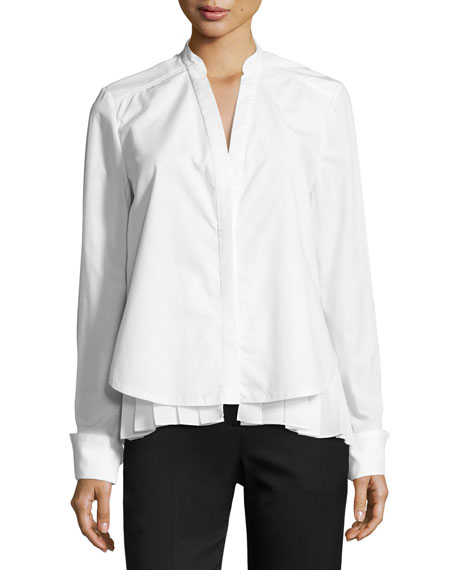 GREY Jason Wu Long-Sleeve 2-in-1 Combo Poplin Top