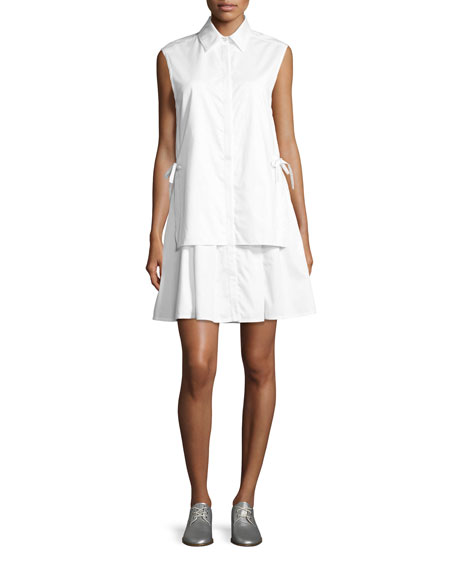 GREY by Jason Wu Sleeveless Layered Poplin Dress