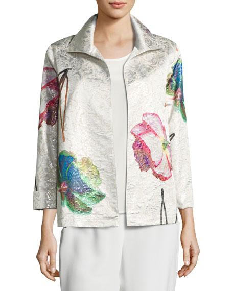 Caroline Rose Rise & Shine Jacquard Jacket, Petite