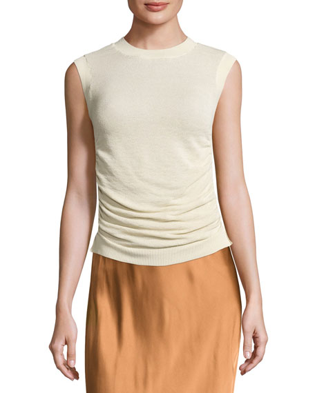 Helmut Lang Satin Midi Slip Skirt, Bronze and