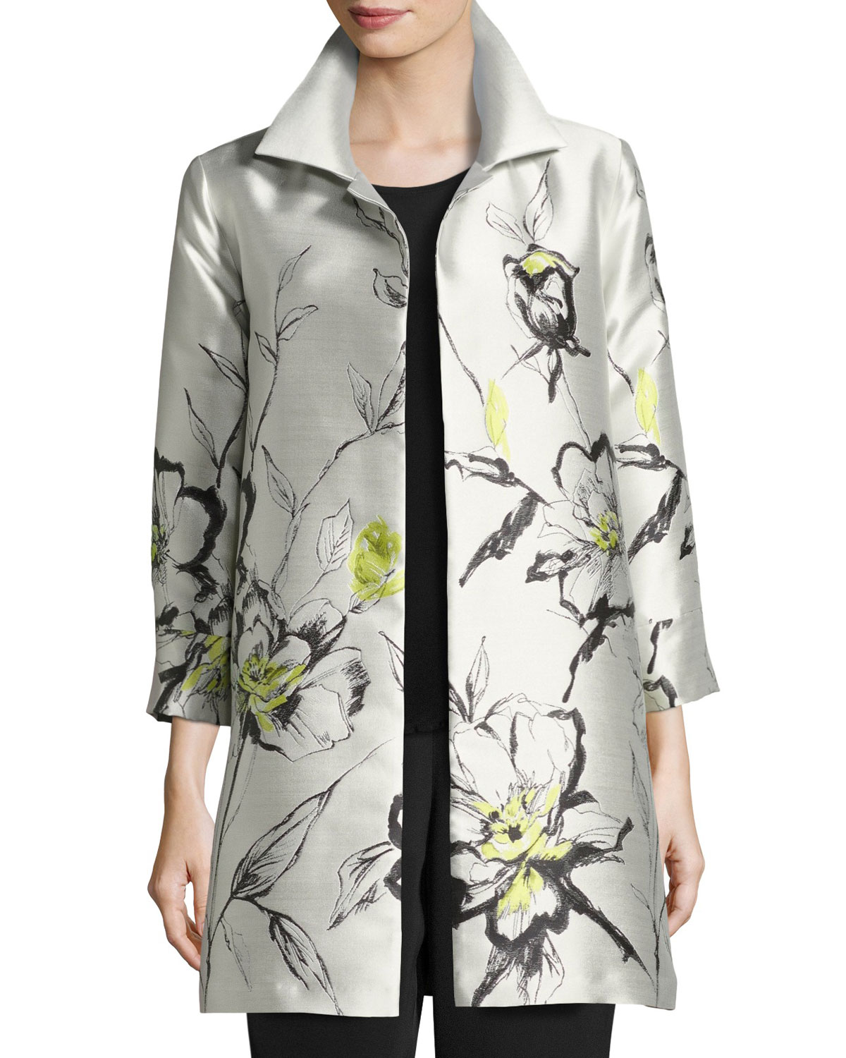 Texas Tech Classic Elegance Ladies Ring: Caroline Rose All-in-Bloom Jacquard Party Jacket, Light