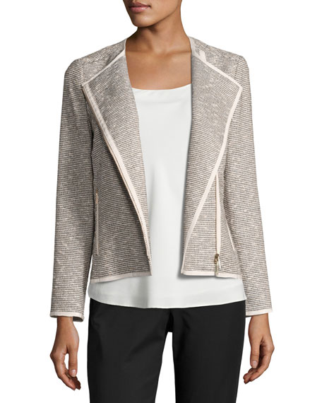 Lafayette 148 New York Christa Isla-Weave Moto Jacket,