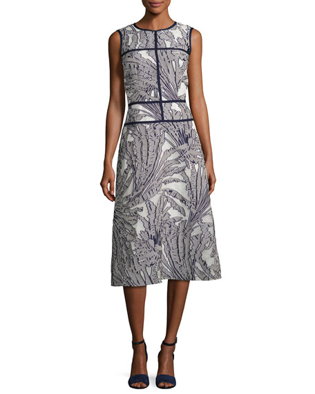 Lafayette 148 New York Damaris Tropical-Print Fil Coupé