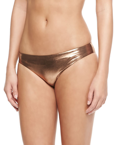 Second Skin Metallic Swim Bottom