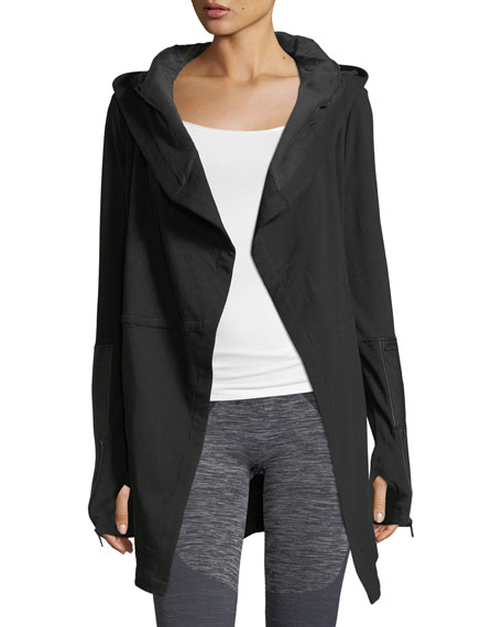 Blanc Noir Traveler Long Jacket w/Leather Trim