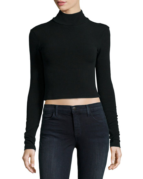 Garrison Cropped Mock-Neck Top