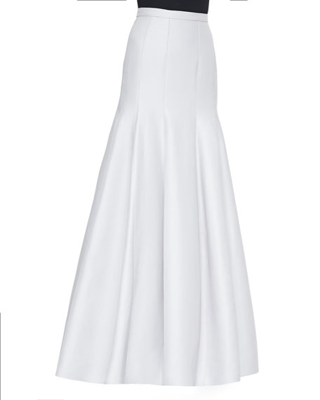 Halston Heritage Long Pleated Trumpet Skirt