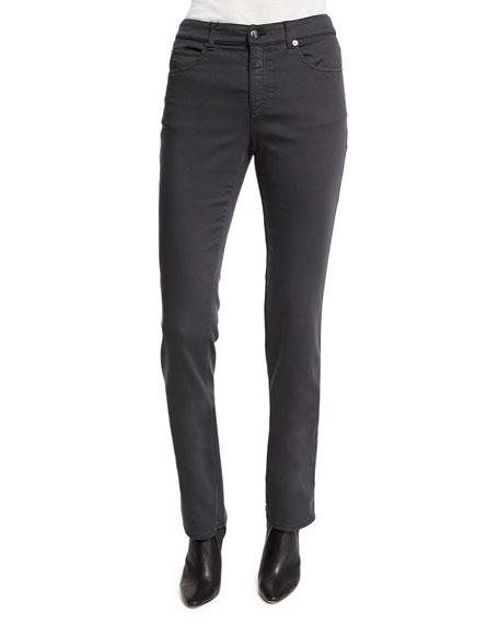 Armani Collezioni Five-Pocket Stretch Skinny Jeans, Gray