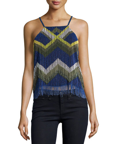 Darce Beaded Chevron Tank, Polaris