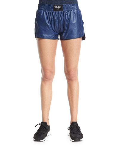 Logo-Front Lightweight Training Shorts, Navy/Black