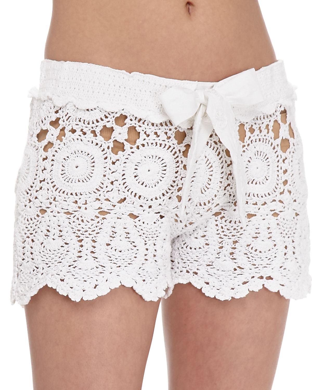 082167858f Letarte Crochet Coverup Shorts   Neiman Marcus