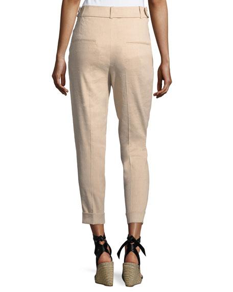 Double-Pleat Cuffed Pants
