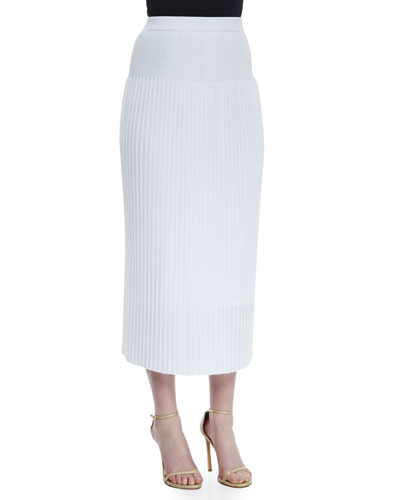 Long Pleated Skirt, Petite