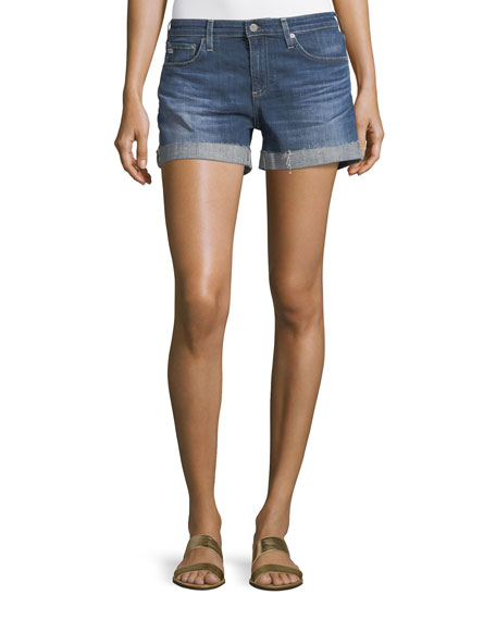 AG Adriano Goldschmied The Hailey Raw-Hem Shorts, 10