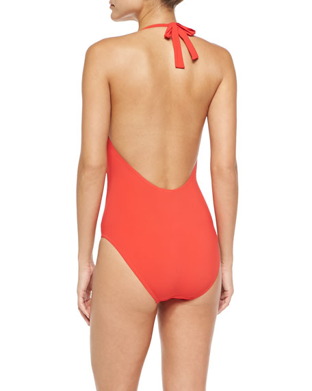 Logo One-Piece Swimsuit