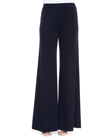 Fit & Knit Palazzo Wide-Leg Pants, Plus Size