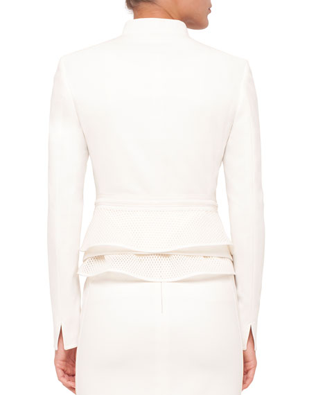 Fitted Long-Sleeve Zip-Front Jacket