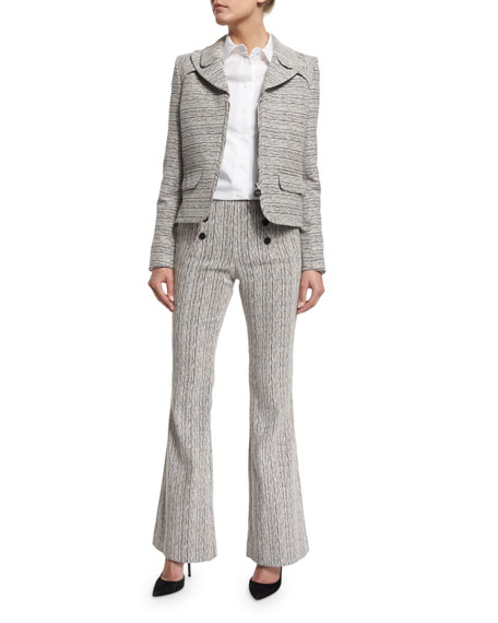 Tweed High-Rise Flare Fantasy Pants