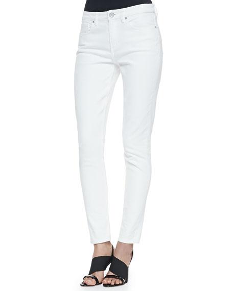 Tahari Woman Azella Cropped Skinny Jeans, White