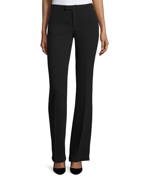 Joseph Rock Flare Crepe Pants, Black