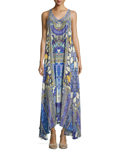 Embellished Racerback Maxi Dress, Seeing Stars
